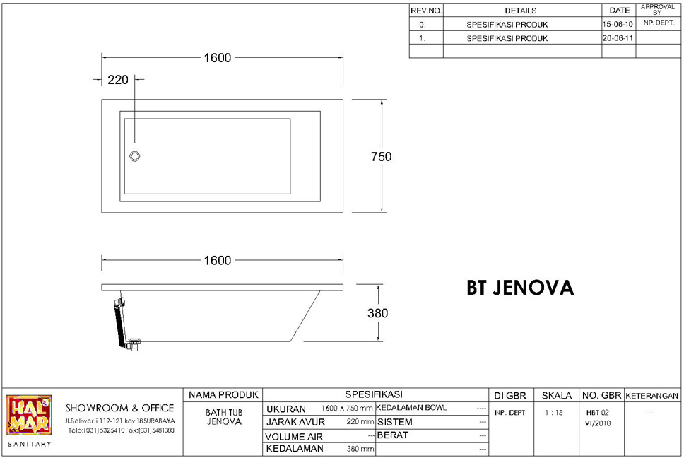Click Here To View Complete Product Specification. Bathtub Jenova